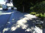 Poco sitio para peatones (aunque se podaran esos matojos)
