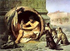 Diógenes de Sínope, el cínico, el perro