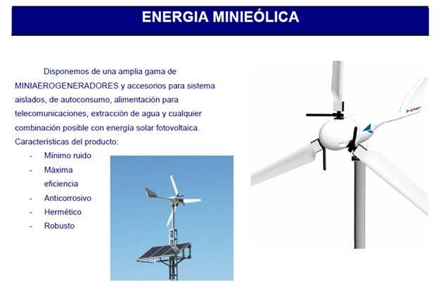 Energía solar y mini eólica de uso doméstico
