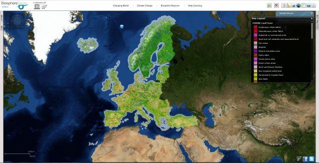 Información sobre cobertura y uso del suelo en la Unión Europea (Fuente de datos proyecto Corine)