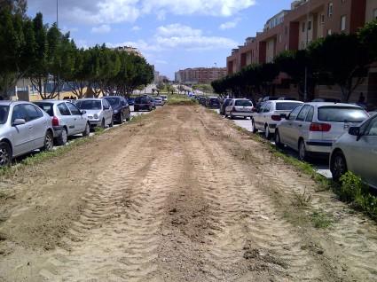 AHORA (2-4-2013): Mediana en Málaga, arrasada.para impedir que la Naturaleza prospere.
