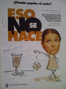 Málaga: Campaña para no tirar papeles al suelo