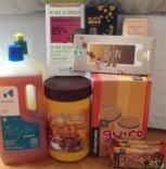 Algunos productos que también se pueden adquirir a través de grupos de consumo, desde productos de limpieza hasta galletas, café o cacao. En este caso, son todos de comercio justo.