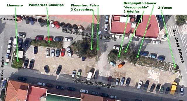 Espacio entre Avd. Plutarco y Calle Jorge Luis Borges.