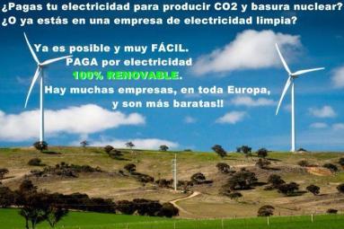 Electricidad renovable en tu casa o en tu empresa.