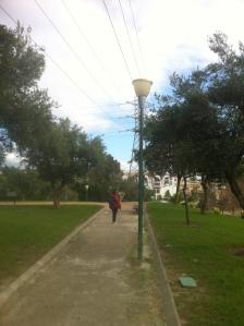 Málaga: Otro tipo de farola poco eficiente (que genera gran contaminación lumínica y gasto energético).