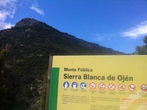 El pico de la Concha en la Sierra Blanca de Ojén.
