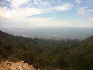 Vistas de Marbella desde el mirador del Macho Montés, cerca de El Juanar.